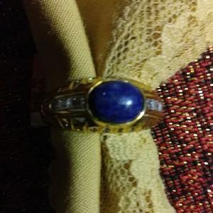 New- 14-karat gold overlay, lapis lazuli, topaz 9